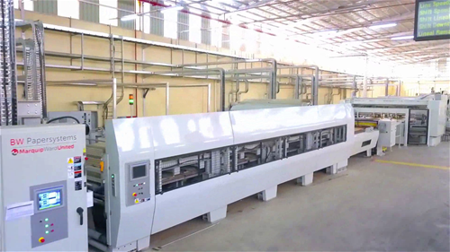 Complete corrugator line video from Kapstone
