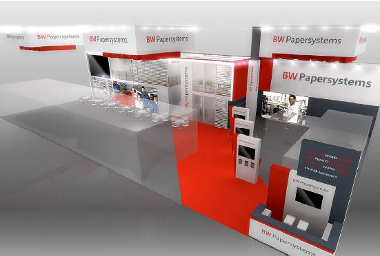 BW Papersystems booth concept