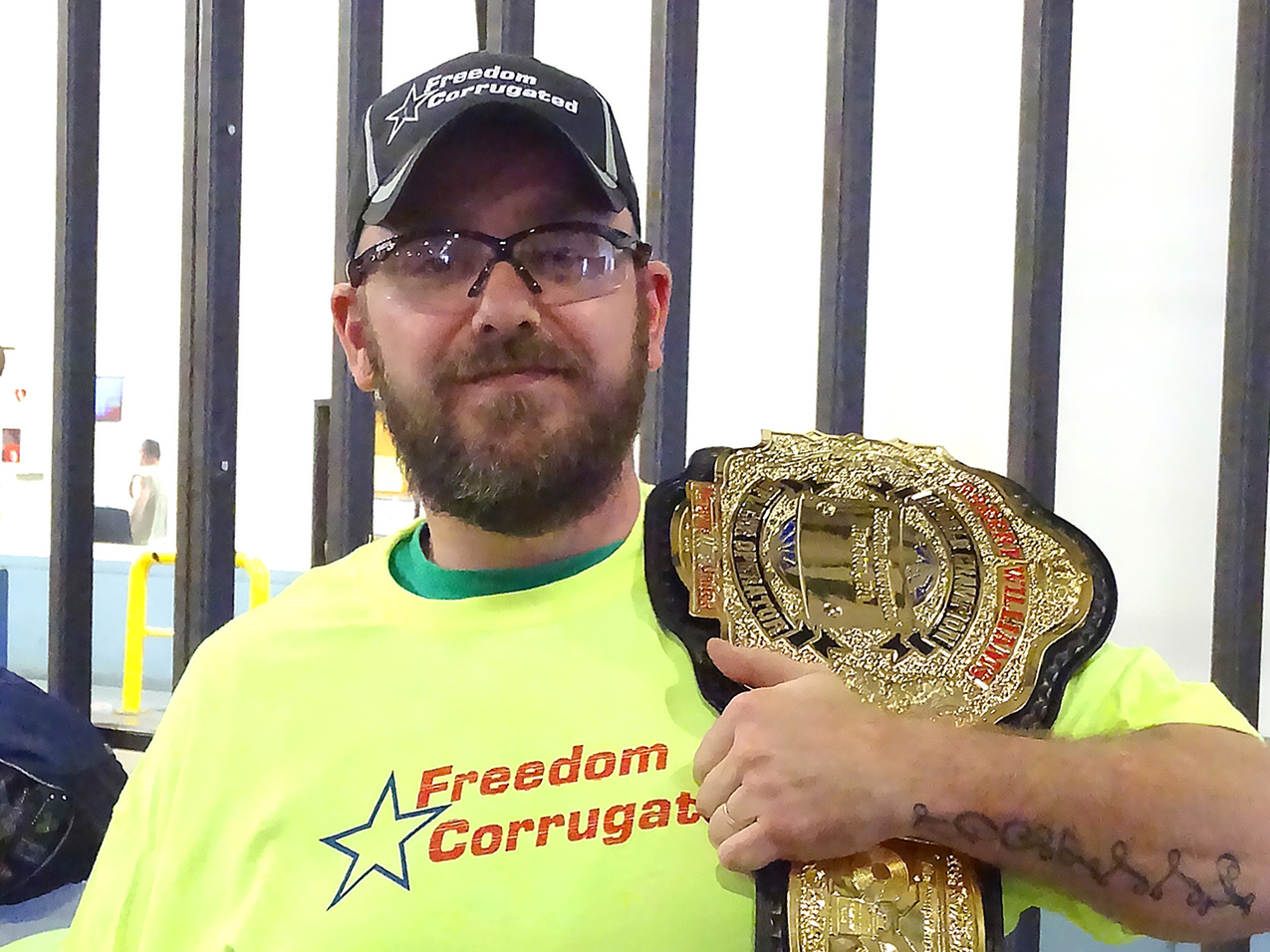 Robert Williams, Freedom Corrugated, is new splicer champion