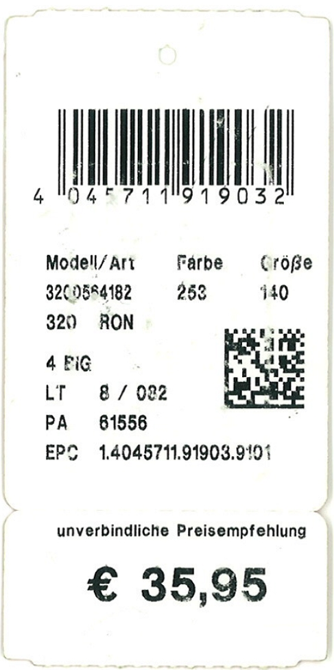 RFID Machine: Garment Tag